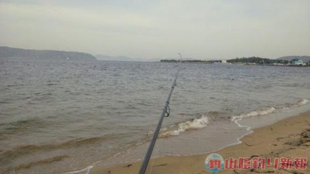 博多湾サーフでキス釣り♪