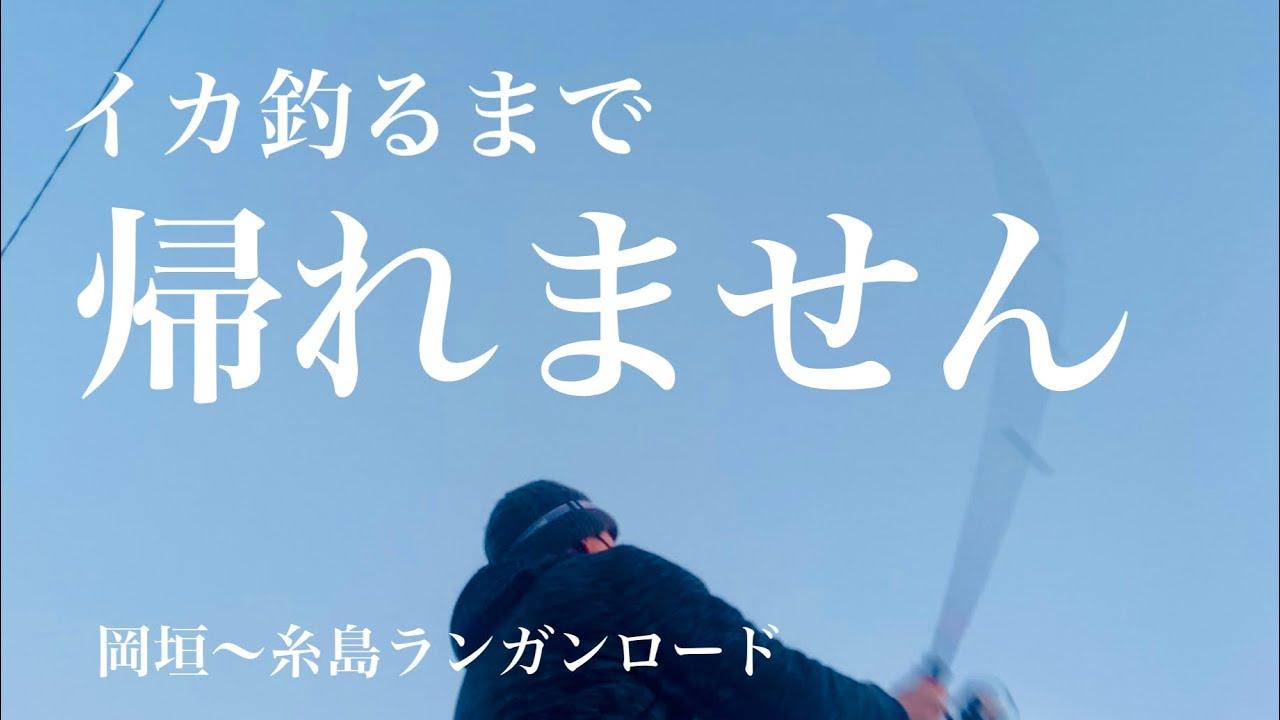 イカ釣るまで帰れません!!岡垣〜糸島 福岡大移動釣り