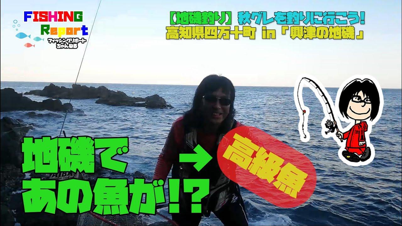 【地磯釣り】秋のグレ釣り in 高知県四万十町興津