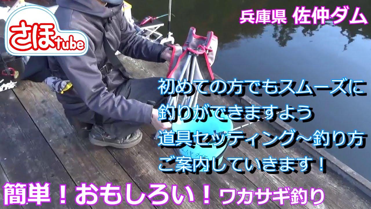 【ワカサギ釣り】道具セッティング~釣り方~ご褒美!兵庫県 佐仲ダム 編