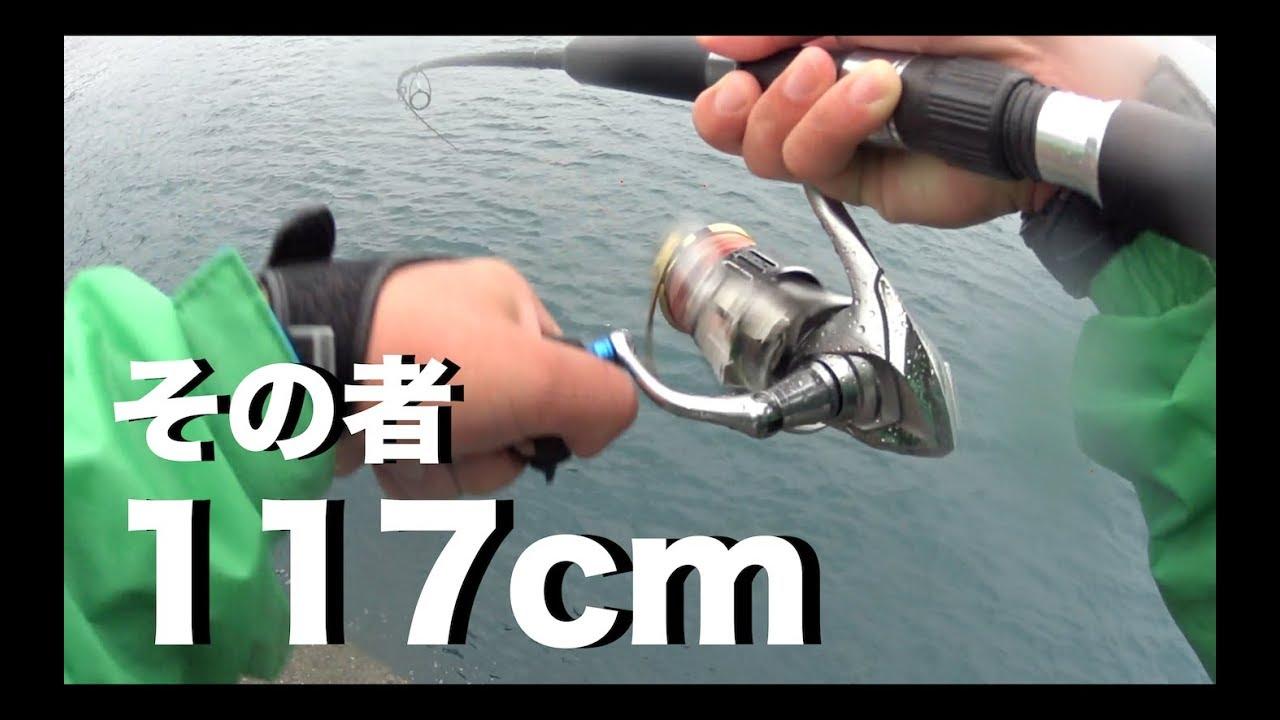 日本海福井のショアジギングで117cmの魚が釣れた…