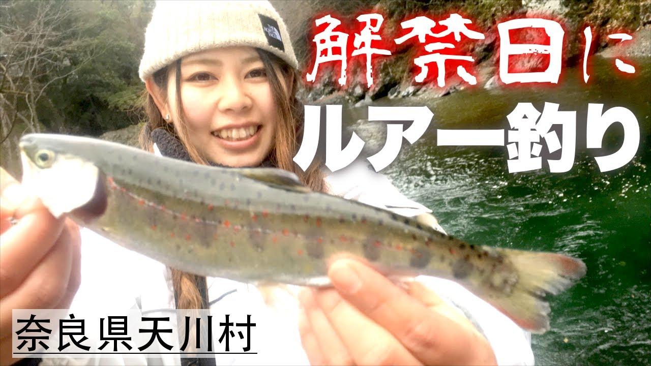 【解禁日】釣りガールがルアーでアマゴ2桁GET!天川村の渓流