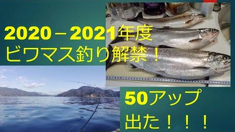 琵琶湖 解禁!ビワマス釣り 出ました50㎝アップ!