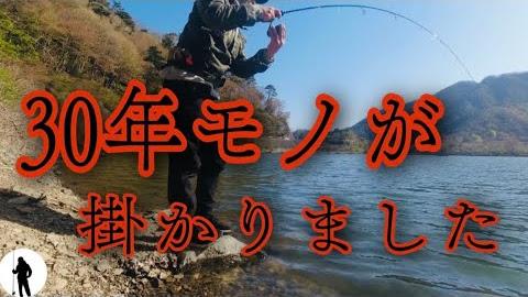 精進湖でバス釣ってたらスゴイの釣れた
