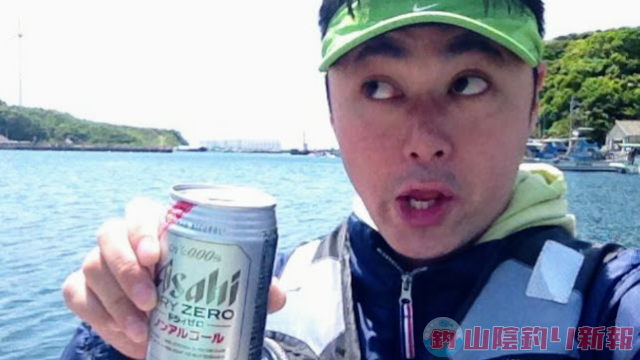 爆風の中、鷹島でボートエギング