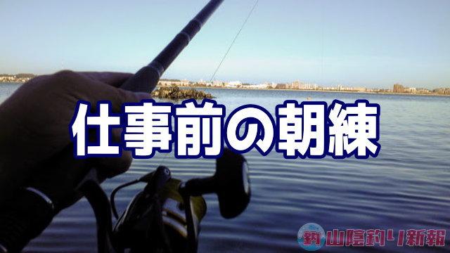 仕事前に釣りの朝練(*´ェ`*)